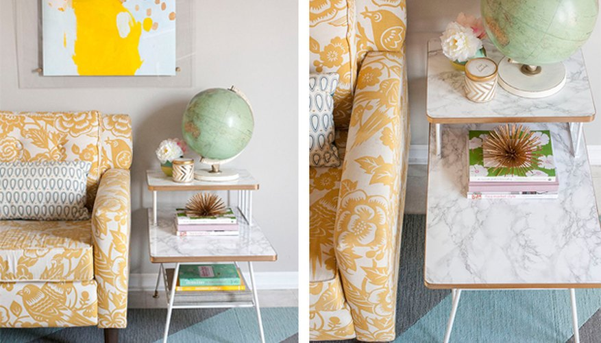 Style your refreshed mid-century table with books and more vintage accessories.