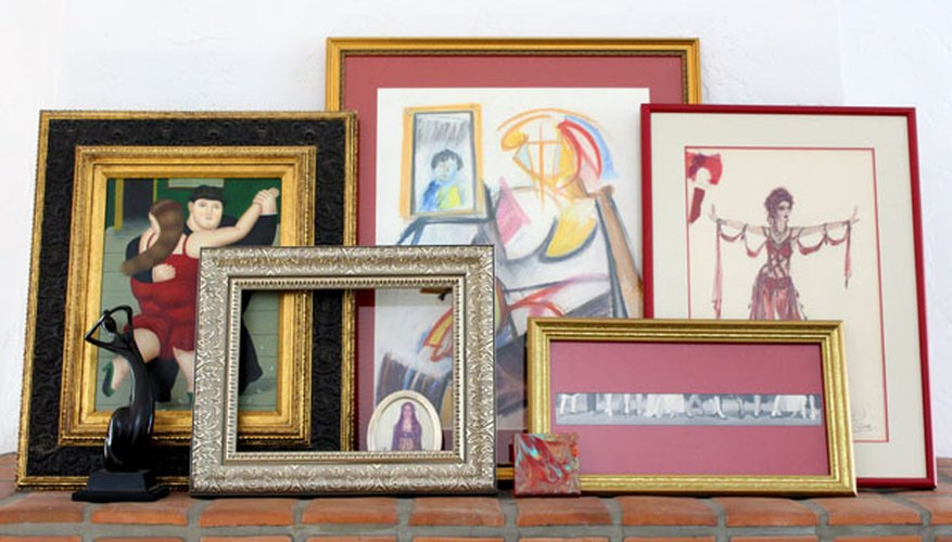 Use frames and paintings for your own mini art gallery.