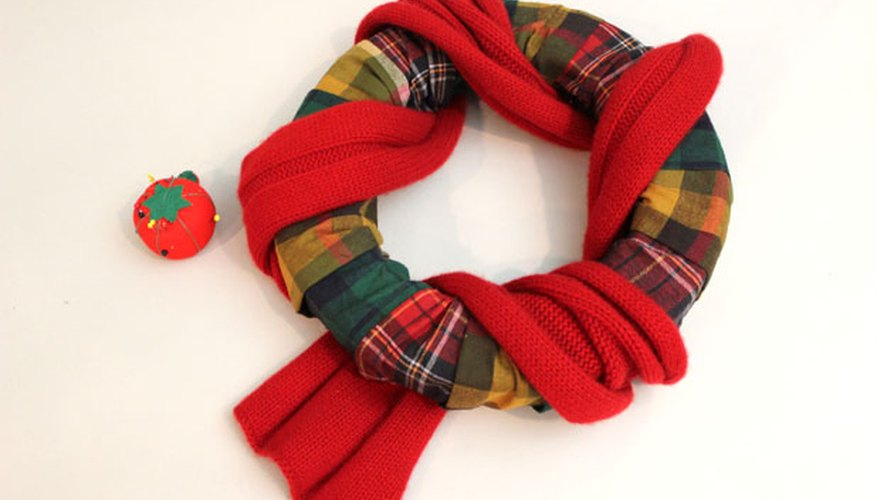 Wrap a scarf around the wreath