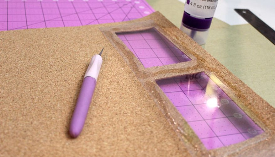 Glue plastic sheets to cover the openings