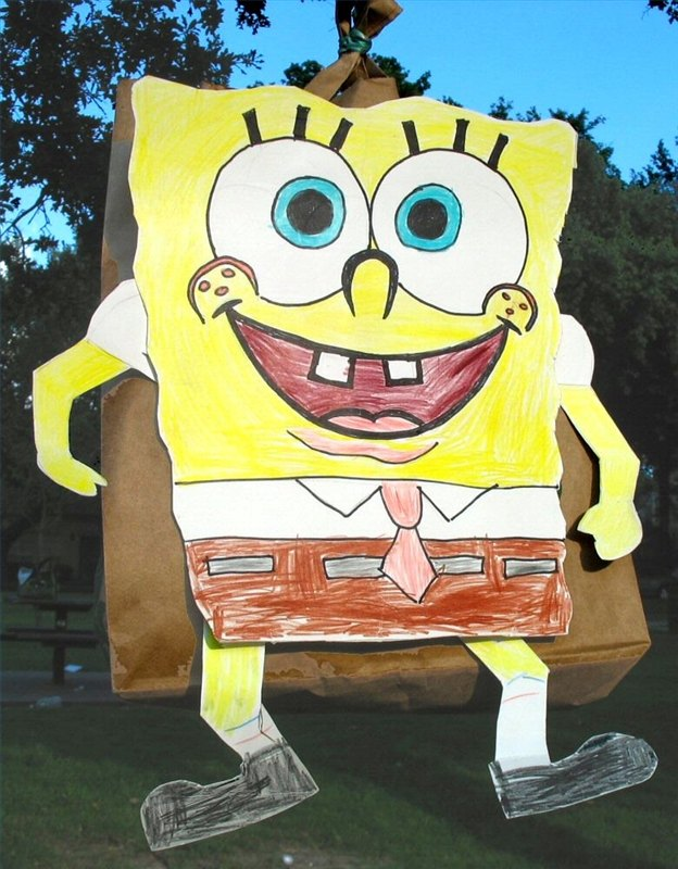 How To Make A Spongebob Squarepants Pinata With Pictures