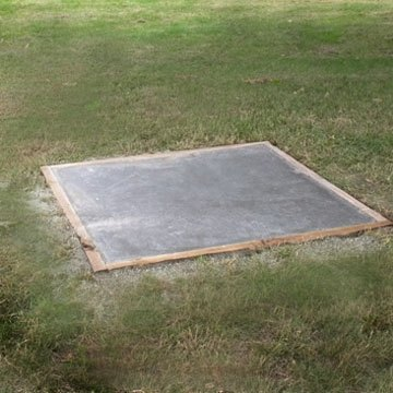 How to make a 5 by 5 concrete slab ehow for Air conditioner pad concrete