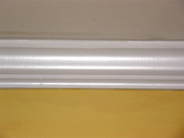 About peel stick crown molding ehow for Standard crown molding size