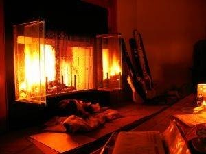 how to clean inside of fireplace glass