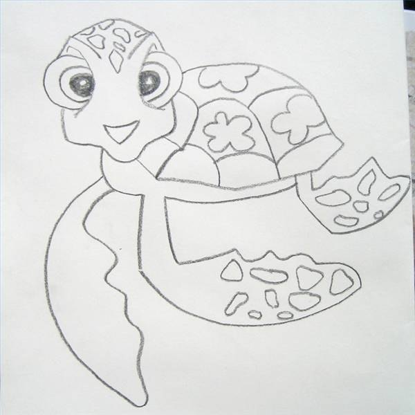 how to draw a sea turtle from finding nemo with pictures ehow