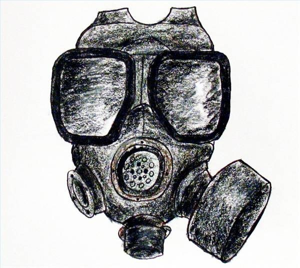 how to draw a gas mask ehow