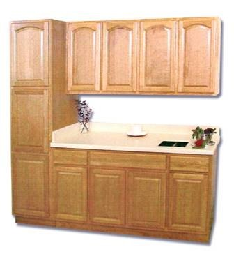 How to refinish laminate cabinets ehow for Can you paint wood veneer kitchen cabinets