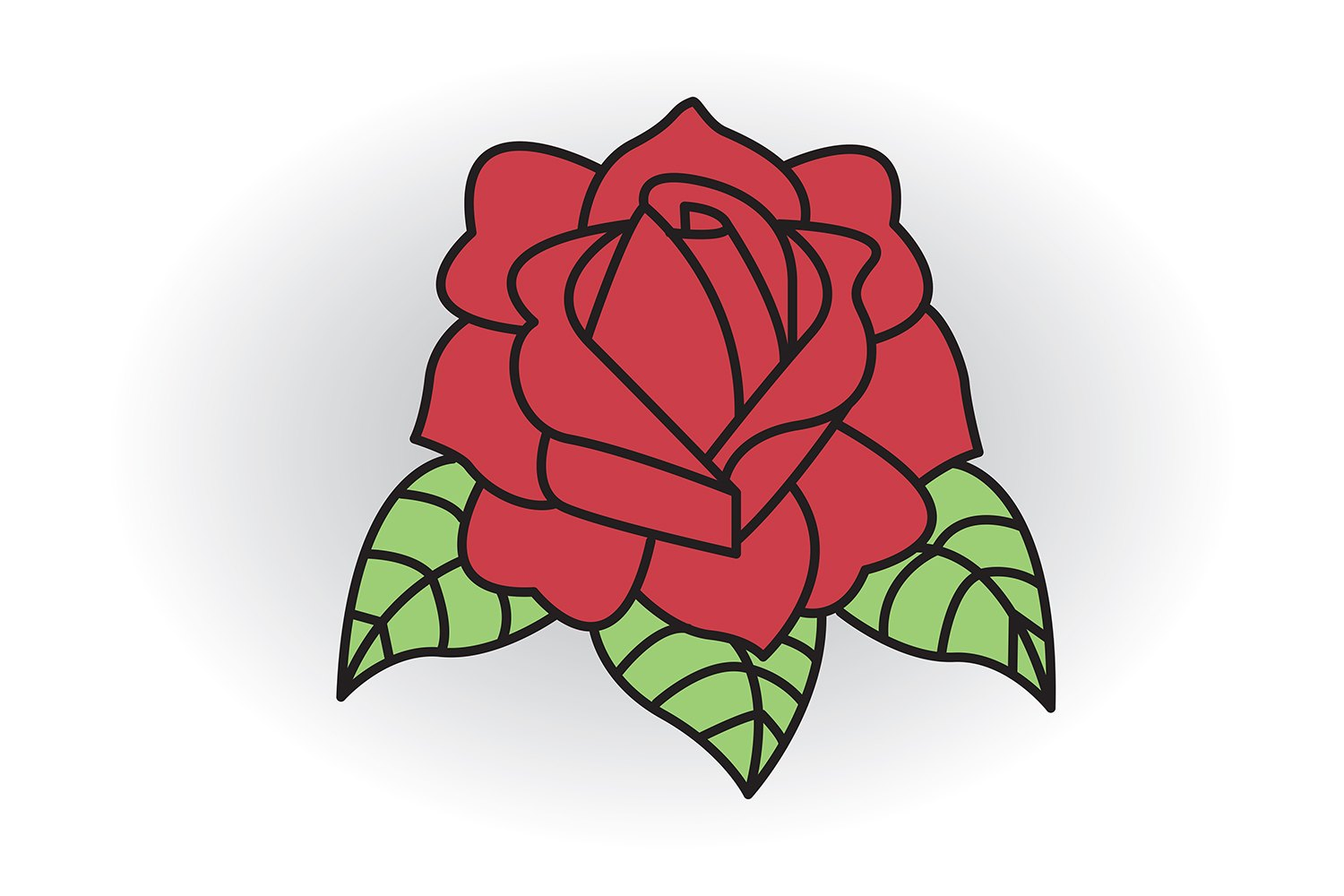 How to Draw a Classic Tattoo Style Rose (with Pictures)   eHow