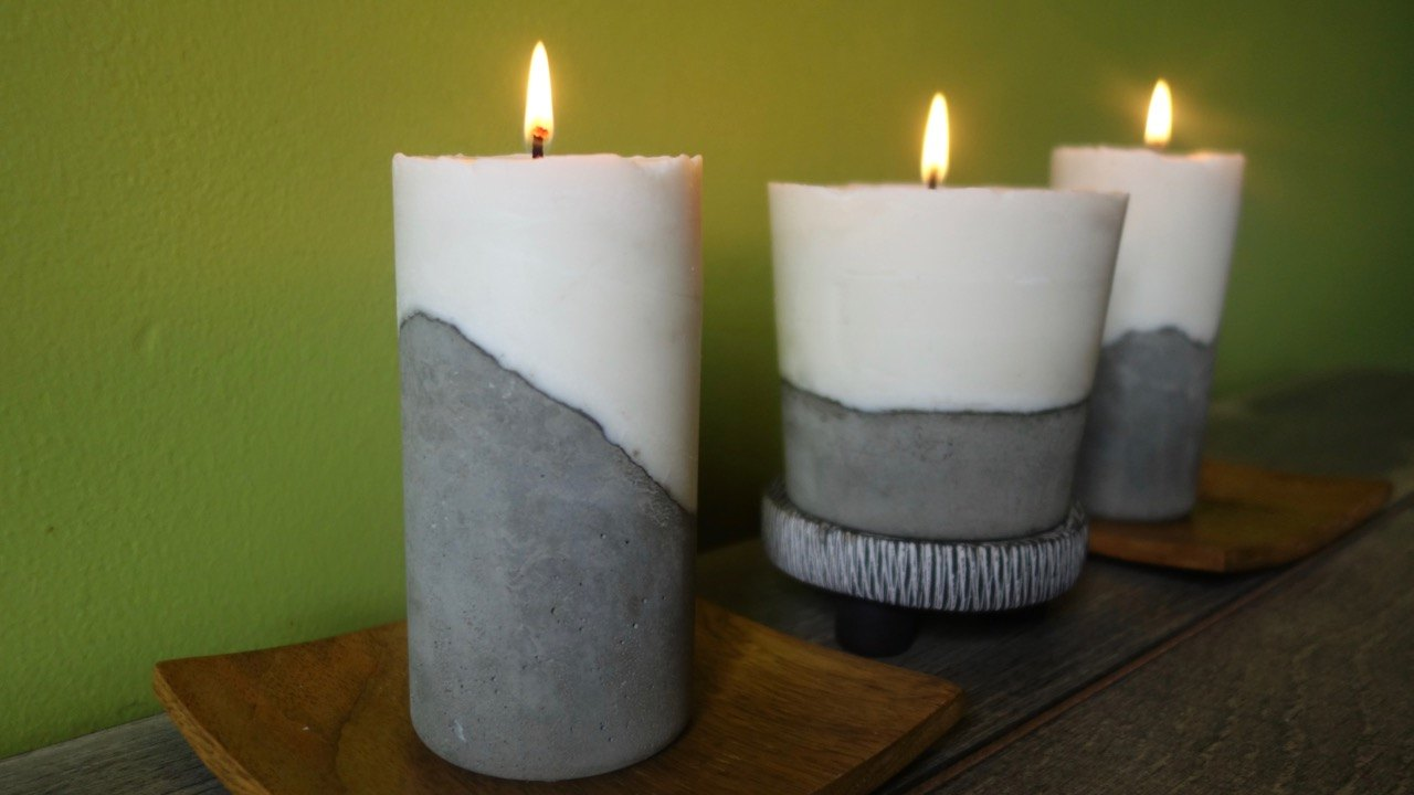 Diy Cement Candle Tutorial Ehow