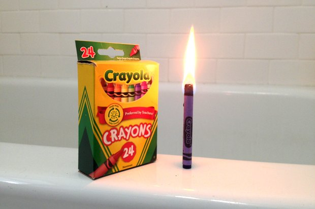 Did you know you could use a crayon as a candle?