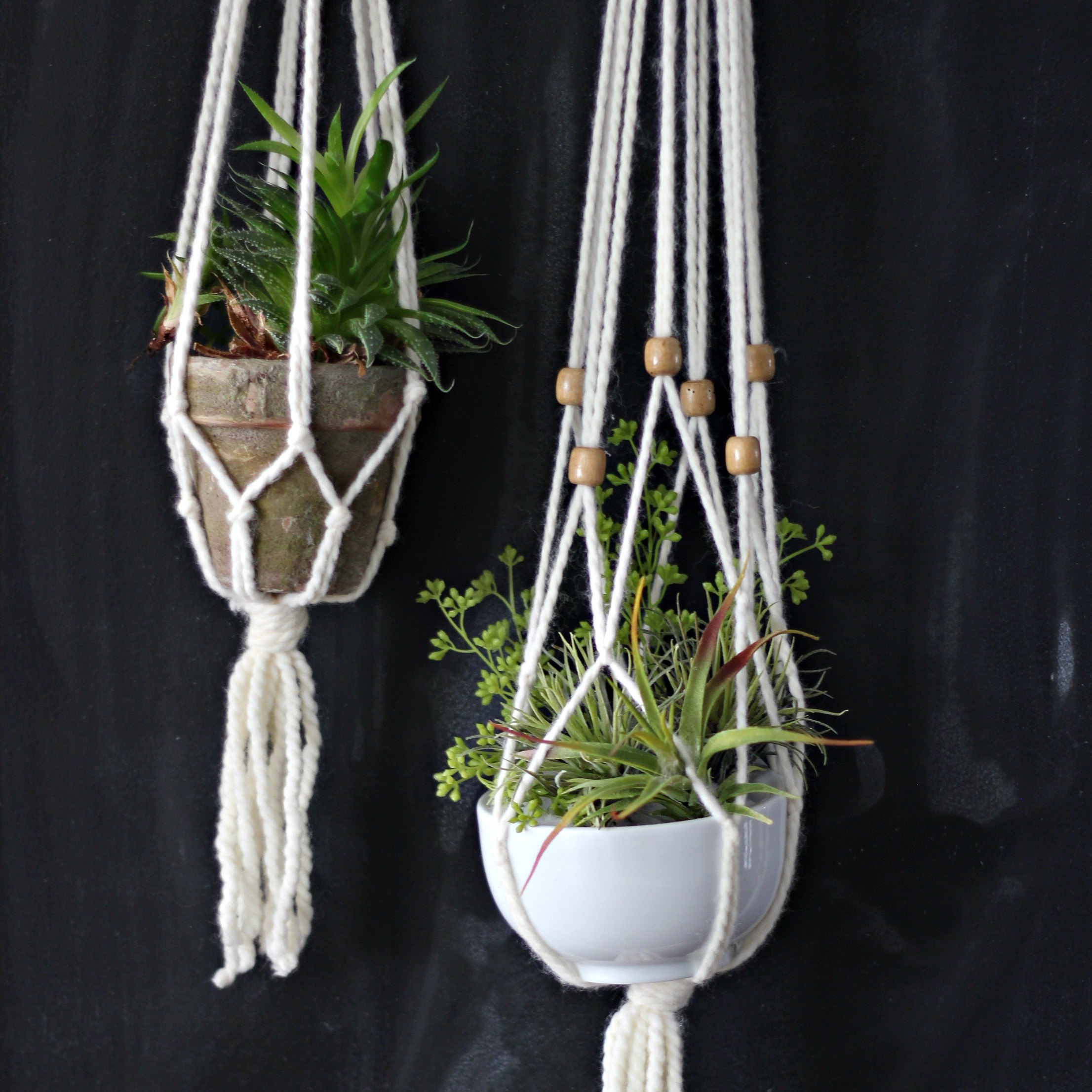 how to make a macrame plant holder how to make a simple macrame plant hanger ehow 8857
