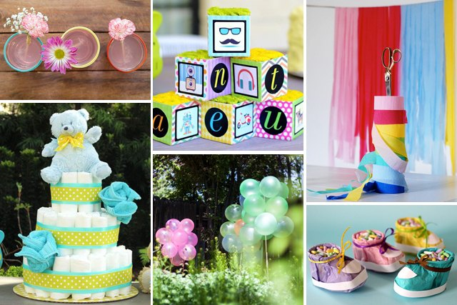 19 cheap baby shower decoration ideas ehow - Baby shower decorations cheap ...