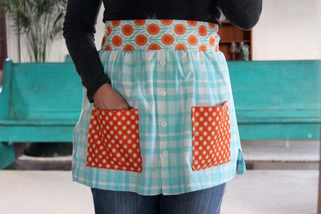 Turn a shirt into an apron.
