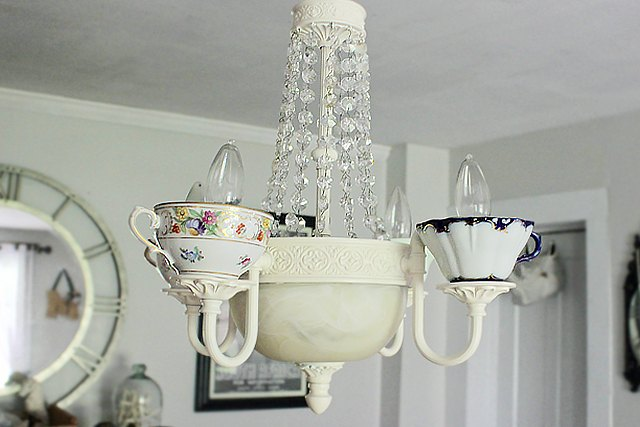 How to make your own teacup chandelier ehow for How to make your own chandelier