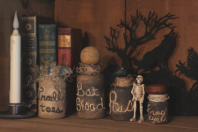 How To Make Spooky Witch S Jar Bottle Potion Decorations