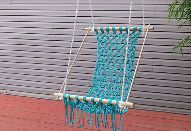 How to make a macrame hammock with pictures ehow for Make a rope hammock