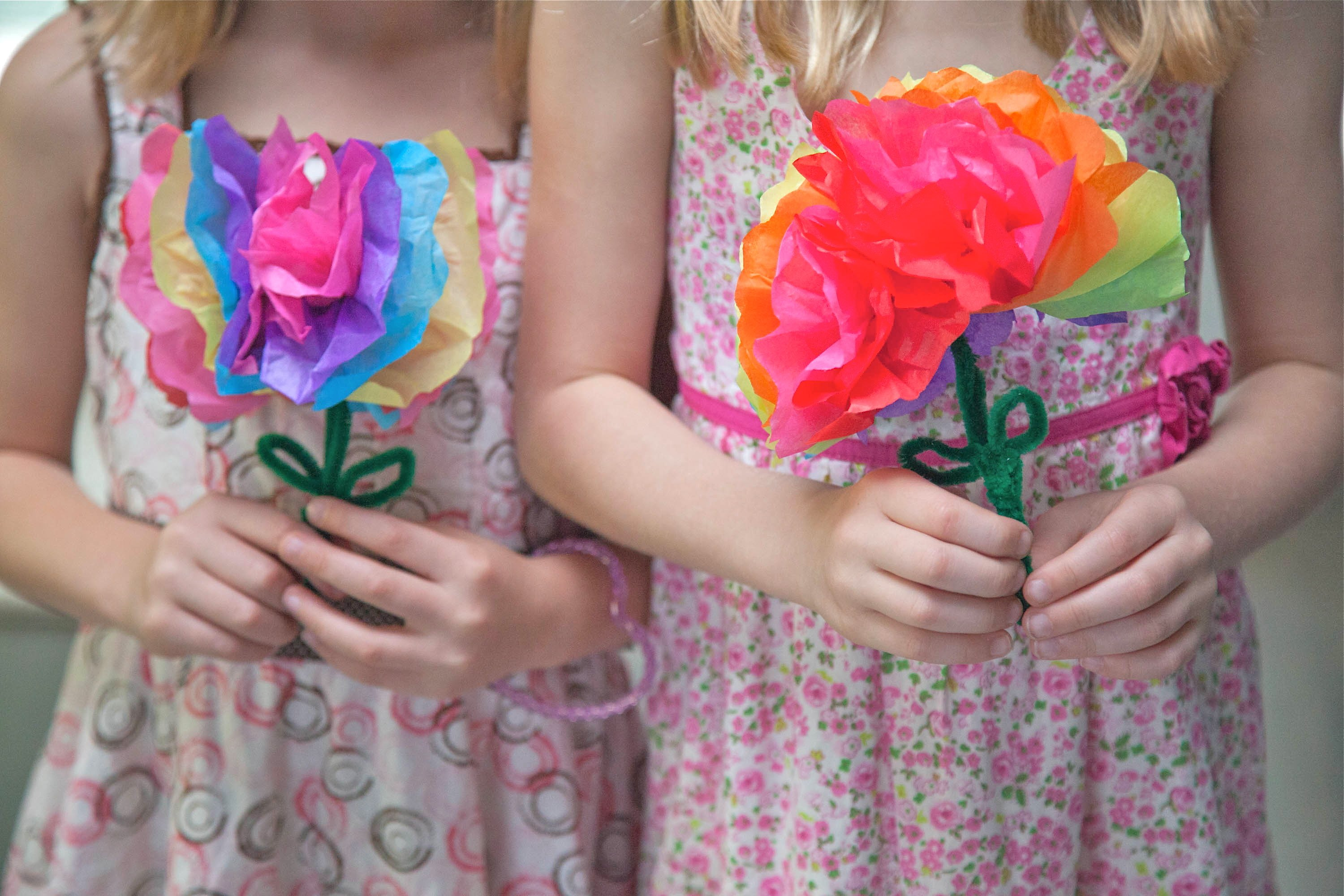 How To Make Paper Flowers With Kids With Pictures Ehow