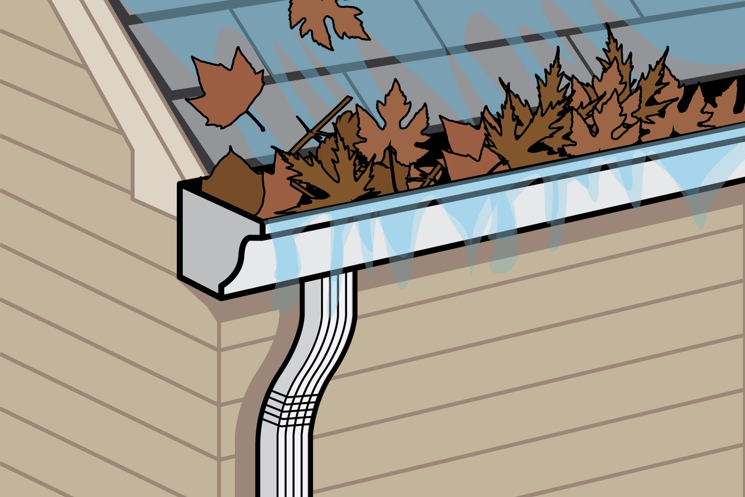 How To Clean Clogged Rain Gutter Downspouts With Pictures