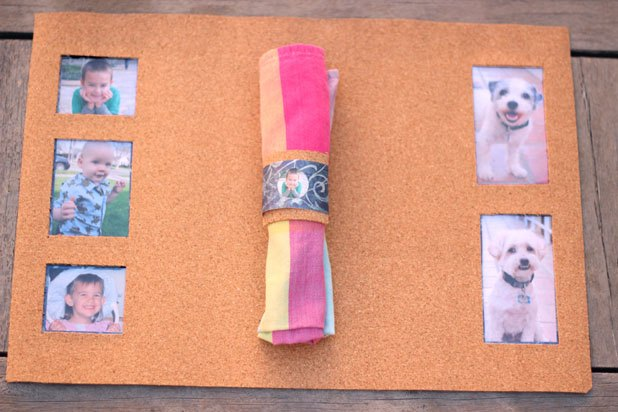 Photo frame placemats