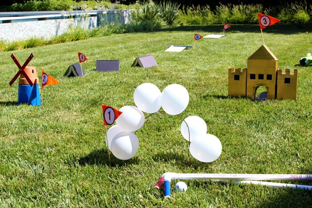 DIY Miniature golf course
