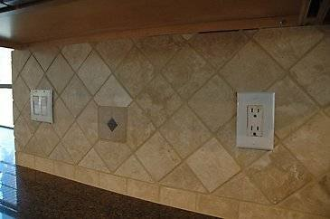 travertine wall tiles kitchen how to install a travertine tile backsplash with pictures 6363