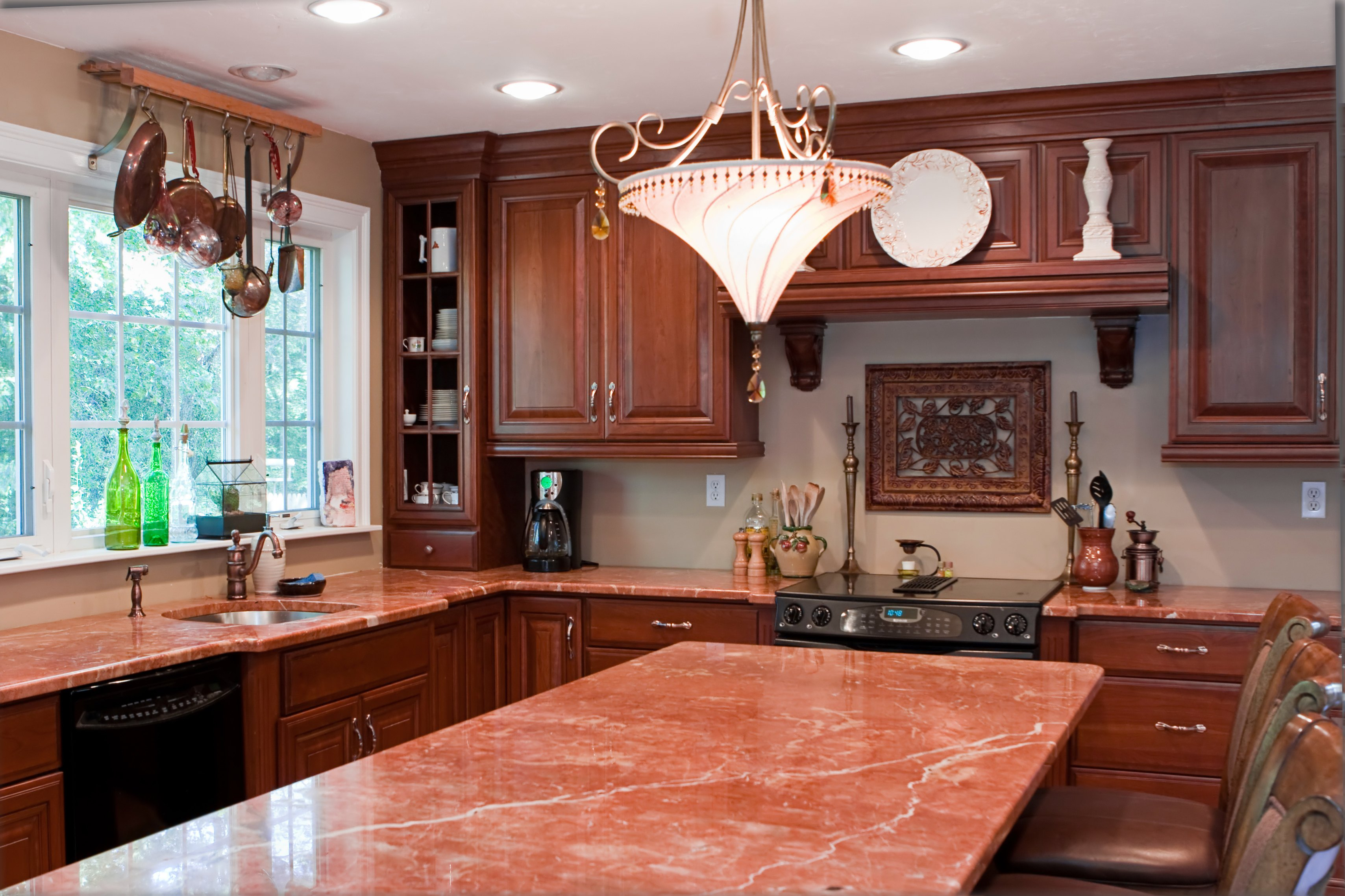 The Best Color Granite With Cherry Cabinets and Black ... on What Color Cabinets Go Best With Black Granite Countertops  id=50671