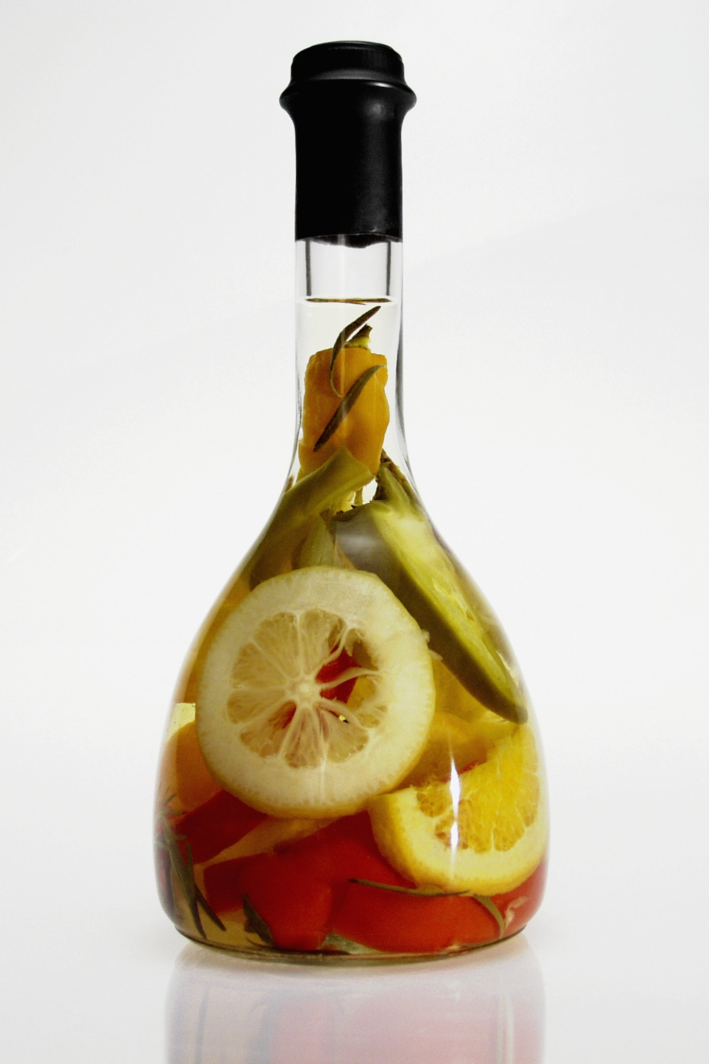 Decorative Infused Olive Oil: How To Fill A Bottle With Fruit And Vegetables In Oil For