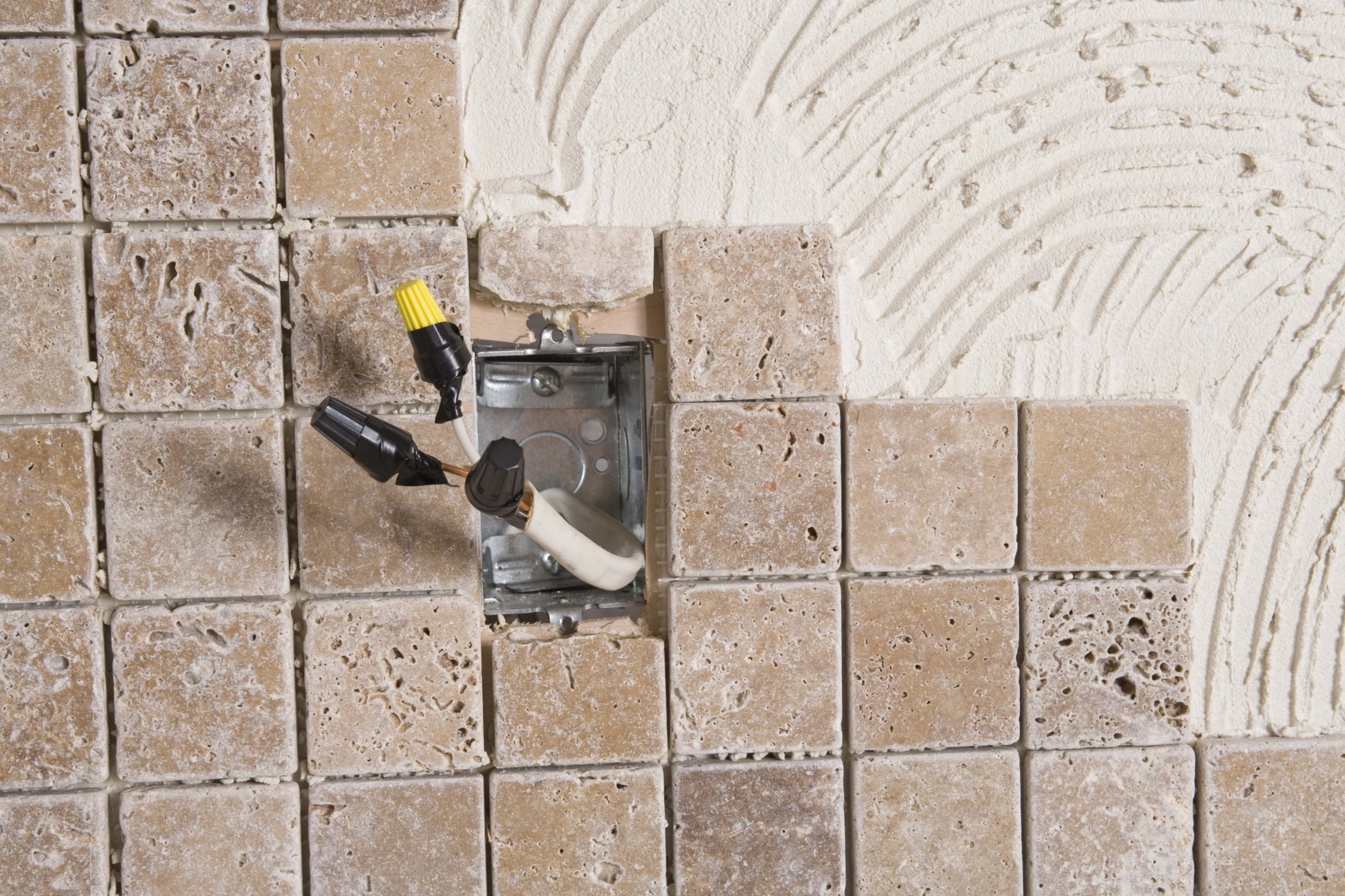 How To Grout A Backsplash Around Outlets Ehow