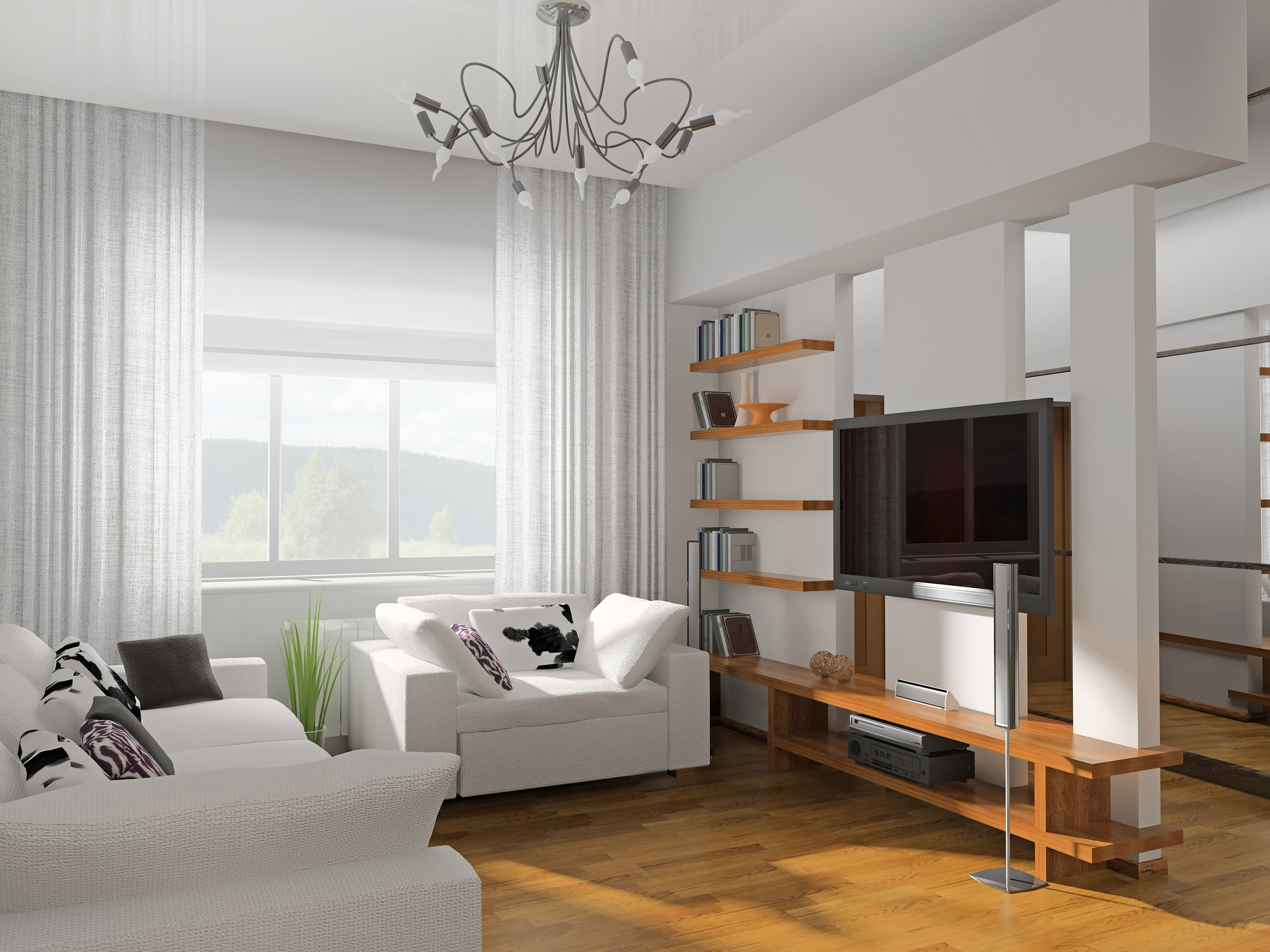 how to coordinate curtains with your wall color ehow. Black Bedroom Furniture Sets. Home Design Ideas