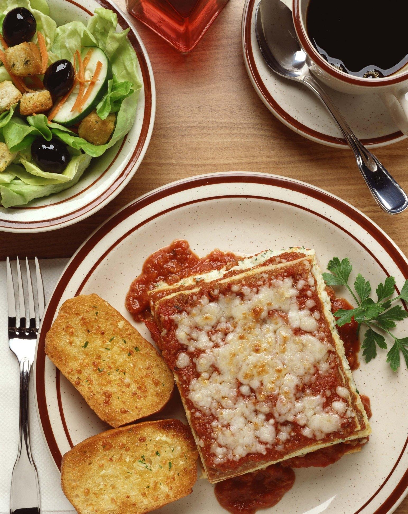 good side foods  lasagna ehow